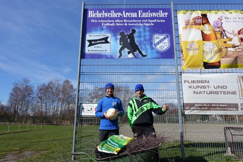 Frühjarsputz in der Bichelweiher-Arena